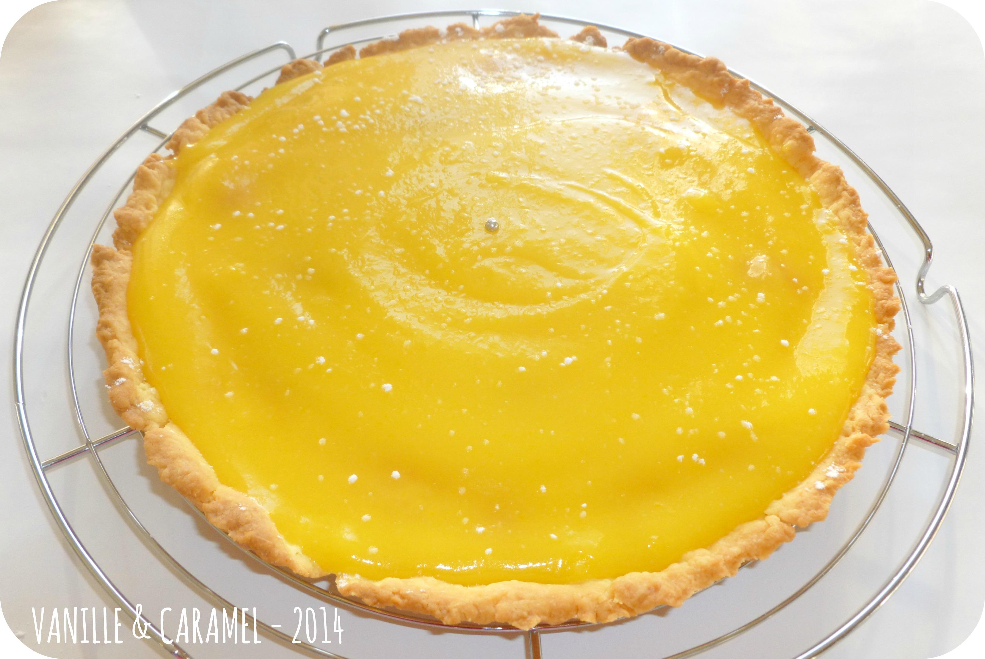 tarte au citron vanille caramel