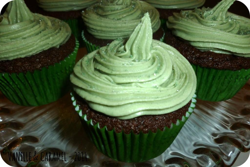 Cupcakes Saint Patrick Vanille et Caramel
