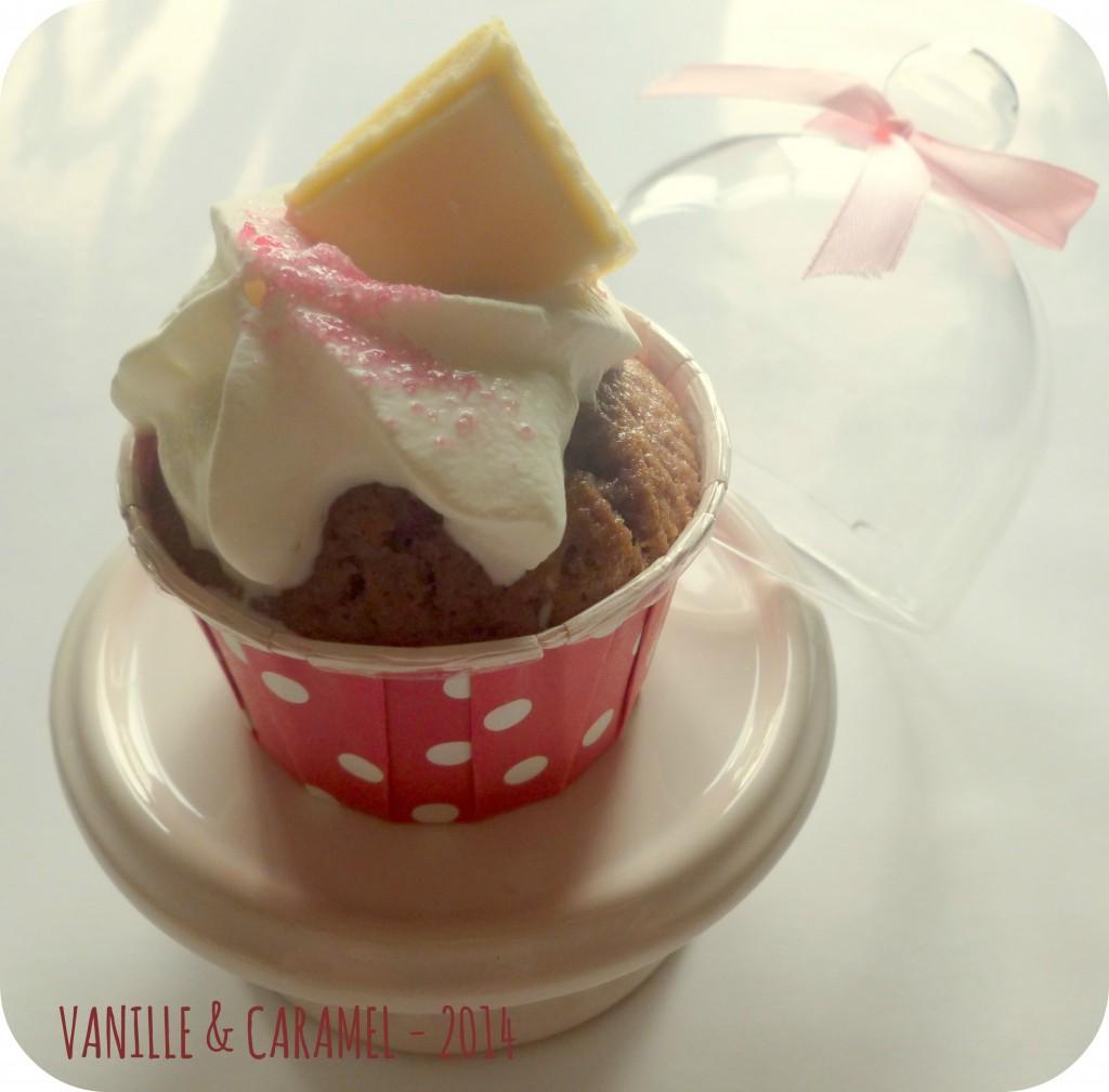 Cupcakes framboises chocolat blanc Vanille et Caramel