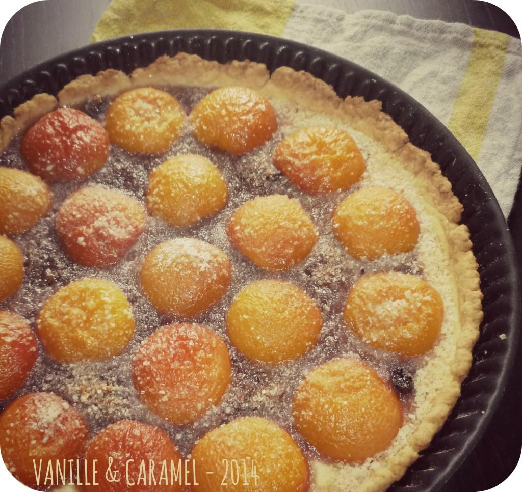 Tarte abricots Vanille et Caralmel