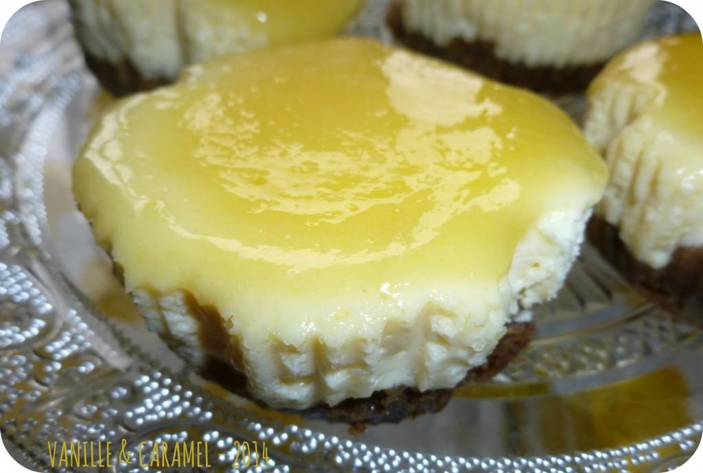 cheesecake citron Vanille et Caramel
