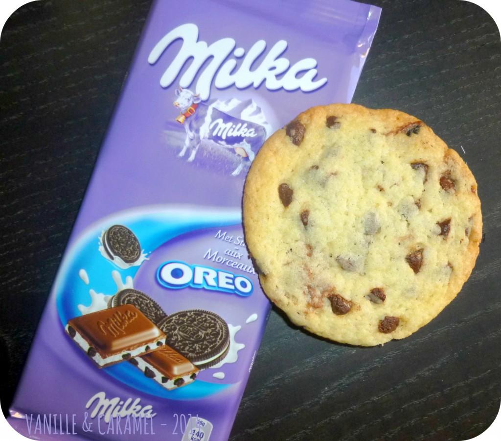 Cookies milka oreo Vanille et Caramel