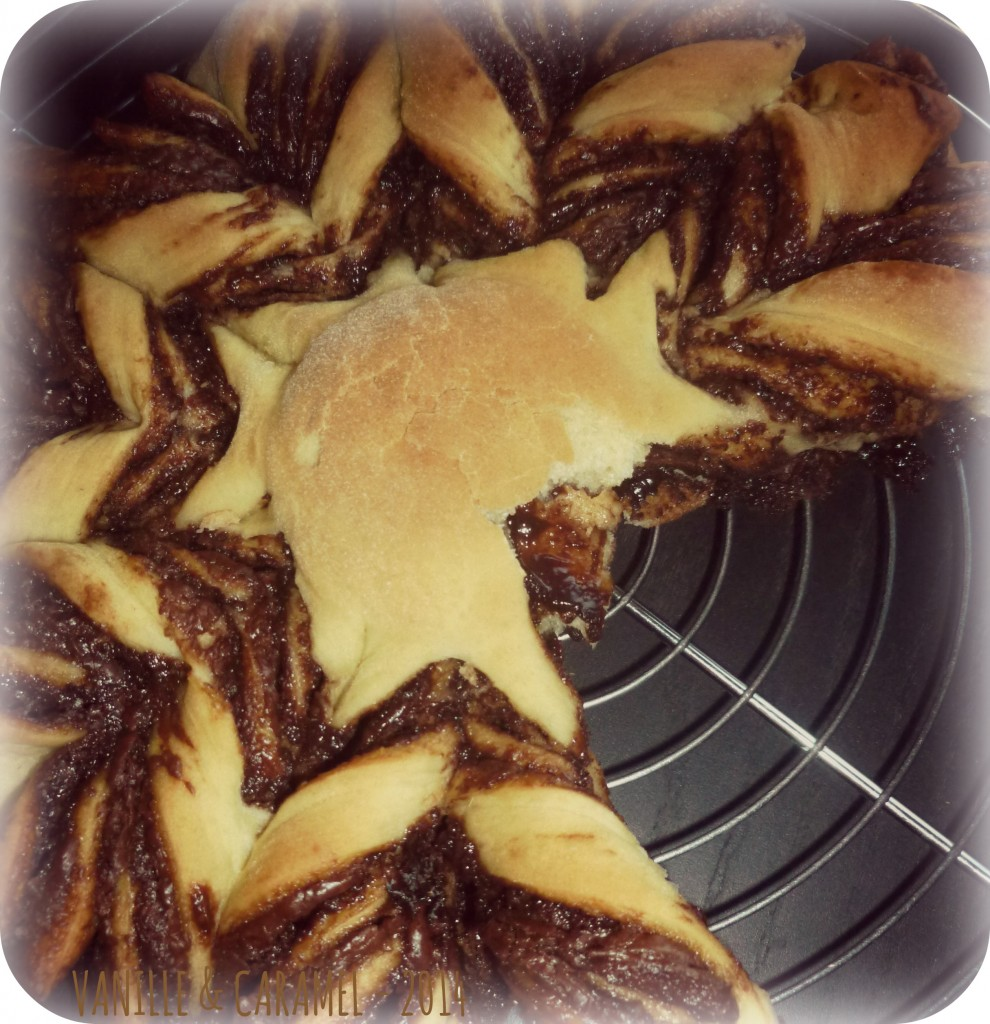 Brioche flocon de neige nutella