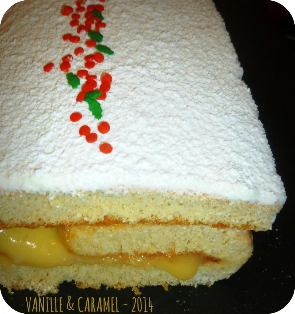 Buche citron guimauve 2 Vanille et Caramel