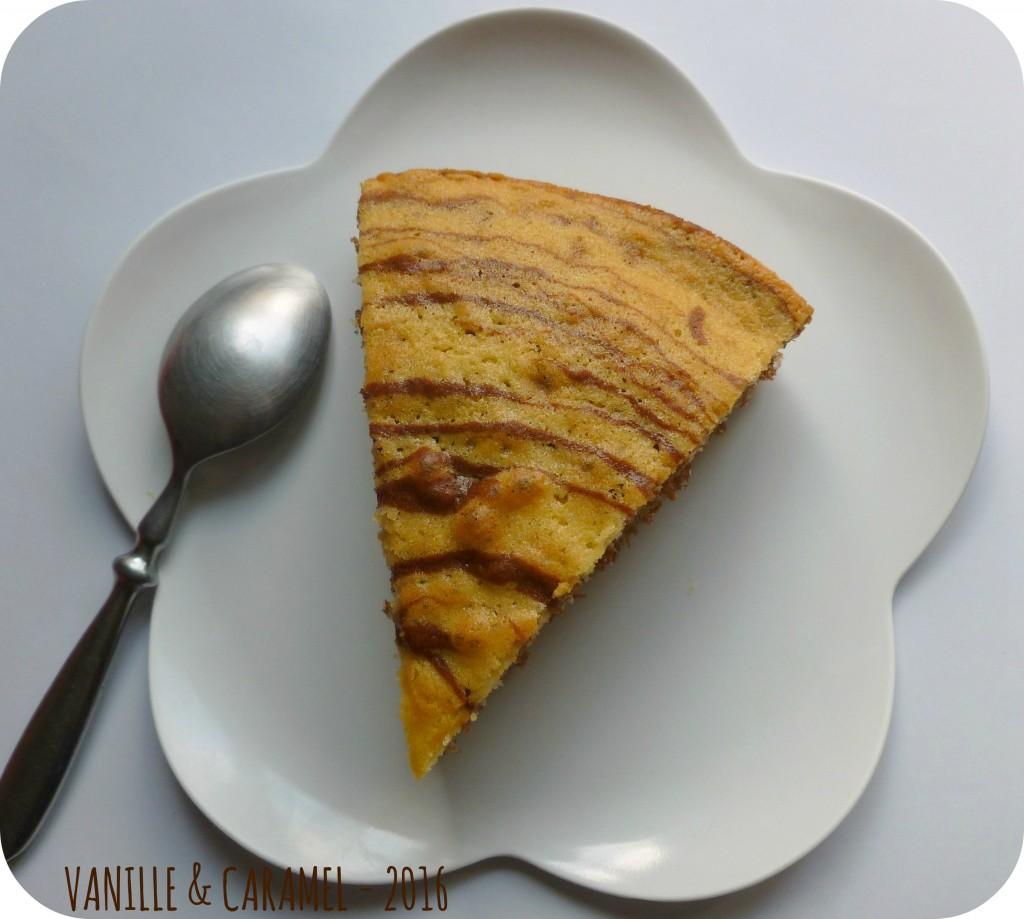 Une part de Zebre vanille cacao