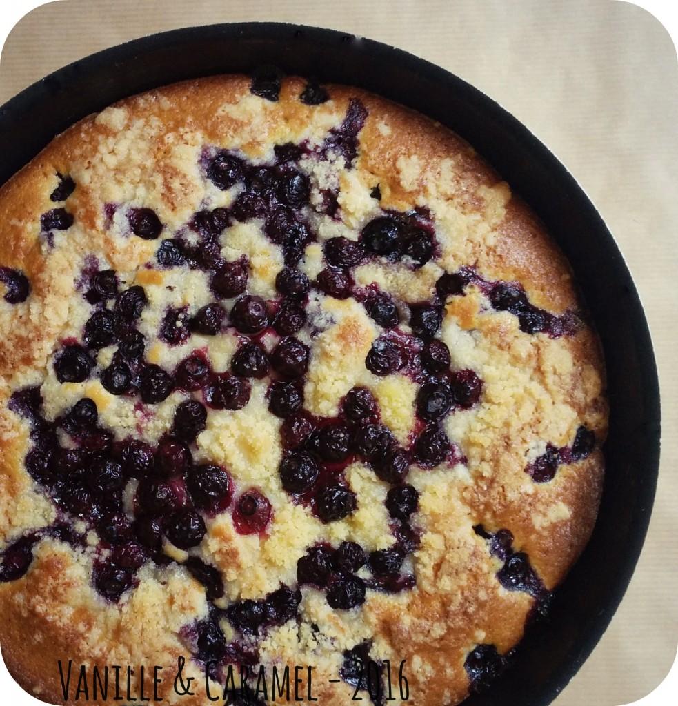 Blueberry Buckle - Gâteau aux Myrtilles